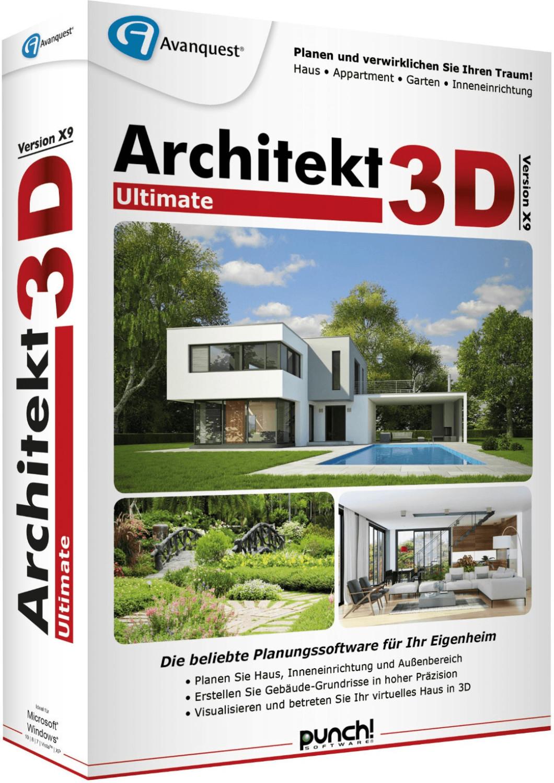 Image of Avanquest Architekt 3D X9 Ultimate (DE) (Box)