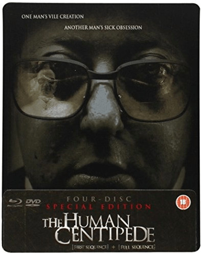 Image of The Human Centipede (First Sequence) + (Full Sequence) 4-disc Special Ltd Edition Dual Format (Blu-ray & DVD) SteelBook