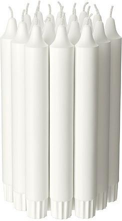 Ikea JUBLA Lüsterkerzen duftneutral weiß 19cm (601.919.16)