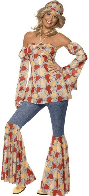 Smiffy´s Vintage Hippy 1970´S Kostüm Gr. L (39434)
