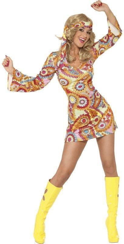 Smiffy´s 1960er Hippie Damenkostüm Gr. S (34060)