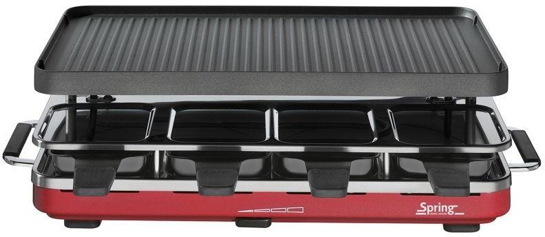 Spring Raclette 8 mit Granitplatte rot