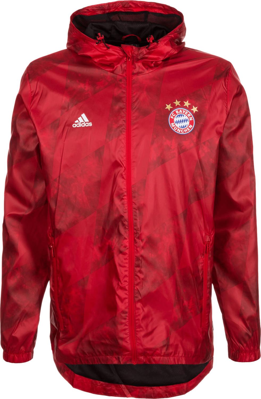 Adidas FC Bayern München Windbreaker Jacke rot