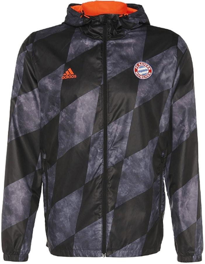 Adidas FC Bayern München Windbreaker Jacke schwarz
