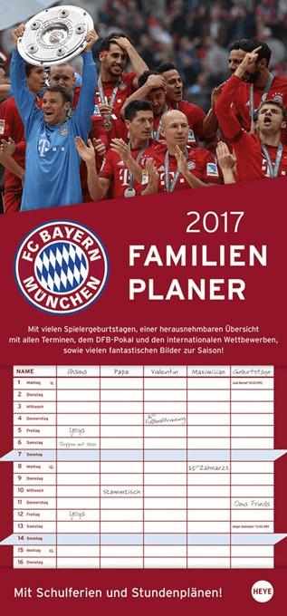 Heye FC Bayern München Familienplaner 2017