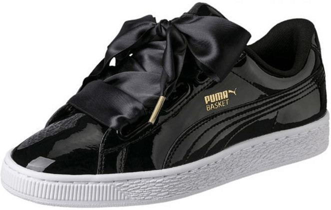 Puma Basket Heart Patent black