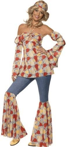 Smiffy´s Vintage Hippy 1970´S Kostüm Gr. XL (39...