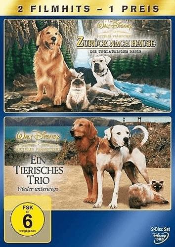 Zurück nach Hause - Die unglaubliche Reise / Ein tierisches Trio - Wieder unterwegs [DVD]