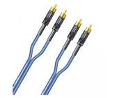 Blau Sommer Cable 0,9m S//PDIF Cinch Digital Kabel 75 Ohm Subwoofer SC-Vector 0.8//3.7 Video VT2I-0090 2x HI-CM12-BLK Stecker