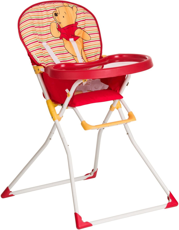 Hauck Mac Baby - Trona alta para bebes a partir de 6 meses a 15 kg, bandeja para comida con molde para vasos, plegado fácil, Pooh Spring Brights Red (