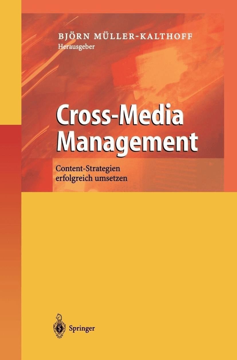 Cross-Media Management [Gebundene Ausgabe]