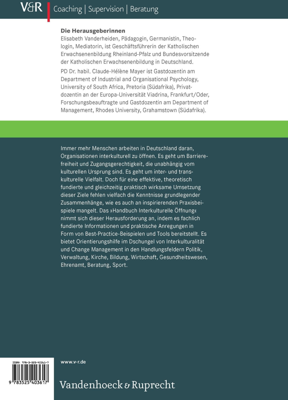 Handbuch Interkulturelle Öffnung [Gebundene Ausgabe]