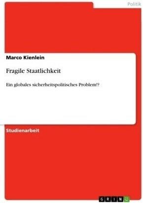 Fragile Staatlichkeit (Kienlein, Marco)