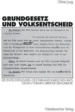 Grundgesetz und Volksentscheid (Jung, Otmar)