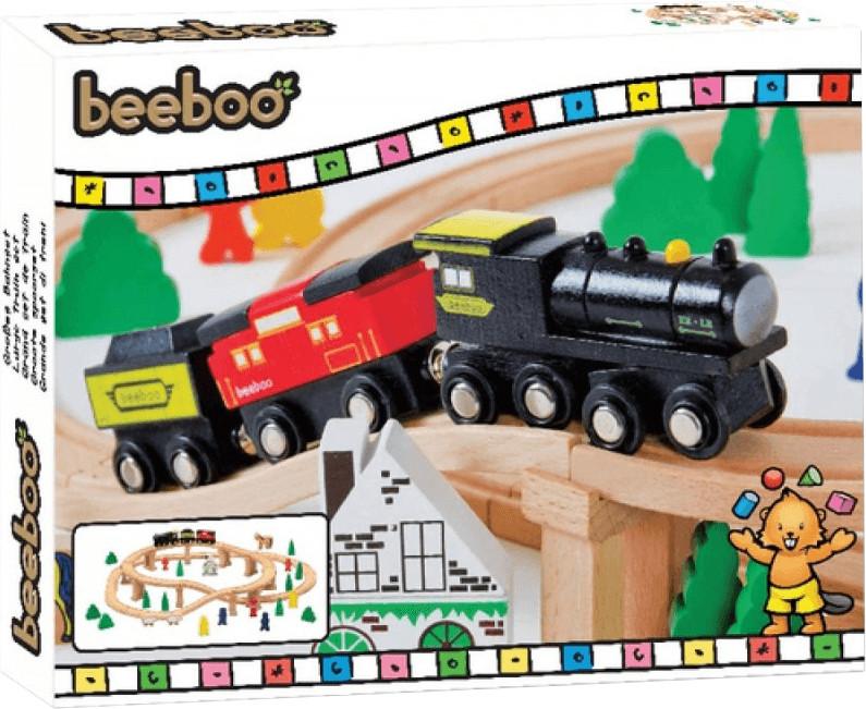 Beeboo Eisenbahn-Spielset 60-teilig (0042520772)