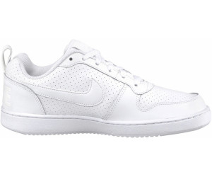 Nike Damen Wmns Court Borough Low Basketballschuhe, Schwarz, 36 EU, Weiß (Blanc/Blanc/Blanc), 40