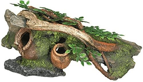 Nobby Aqua Ornaments Holz mit Krügen mit Pflanz...