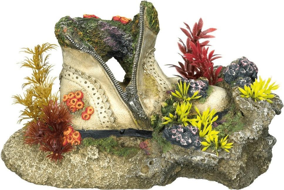 Nobby Aqua Ornaments Schuh mit Korallen mit Pfl...