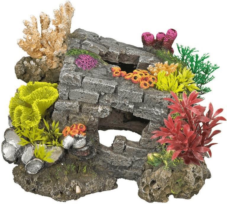 Nobby Aqua Ornaments Steinquarder mit Pflanzen ...