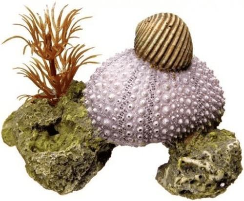 Nobby Aqua Ornaments Muschel mit Pflanzen (28221)