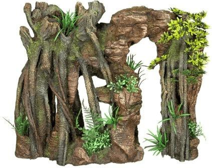 Nobby Aqua Ornaments Fels mit Dschungelf mit Pf...