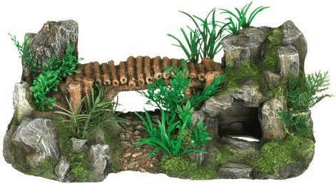 Nobby Aqua Ornaments Holzbrücke mit Pflanzen (2...