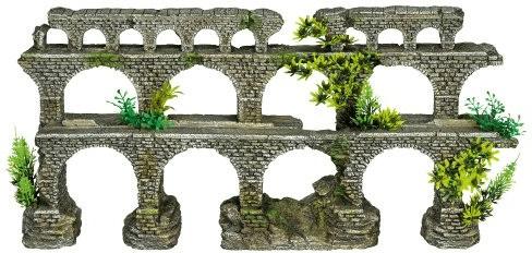 Nobby Aqua Ornaments Säulenbrücke mit Pflanzen ...