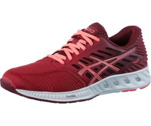 Asics Fuzex Mujer De Los Zapatos Ot Rojo Coral Flash