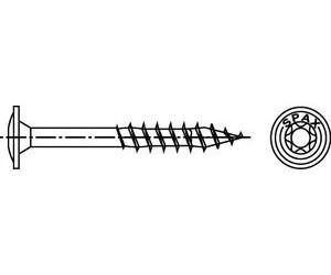 Teilgewinde 4CUT 100 St/ück SPAX Holzbauschraube aus Edelstahl rostfrei A2 0257000600805 Tellerkopf 6,0 x 80 mm T-STAR plus