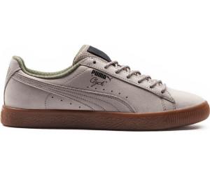 Herren Puma Clyde Winter Schuhe oliv orange Lo Sneaker