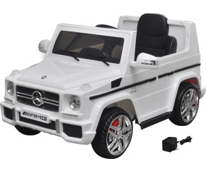 vidaxl voiture lectrique mercedes benz g65 suv 2 blanc au meilleur prix sur. Black Bedroom Furniture Sets. Home Design Ideas