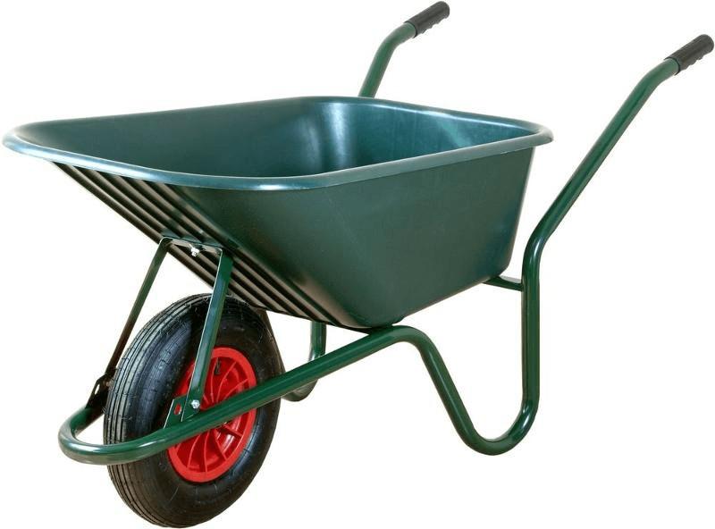 Limex Bauschubkarre 100 Liter grün