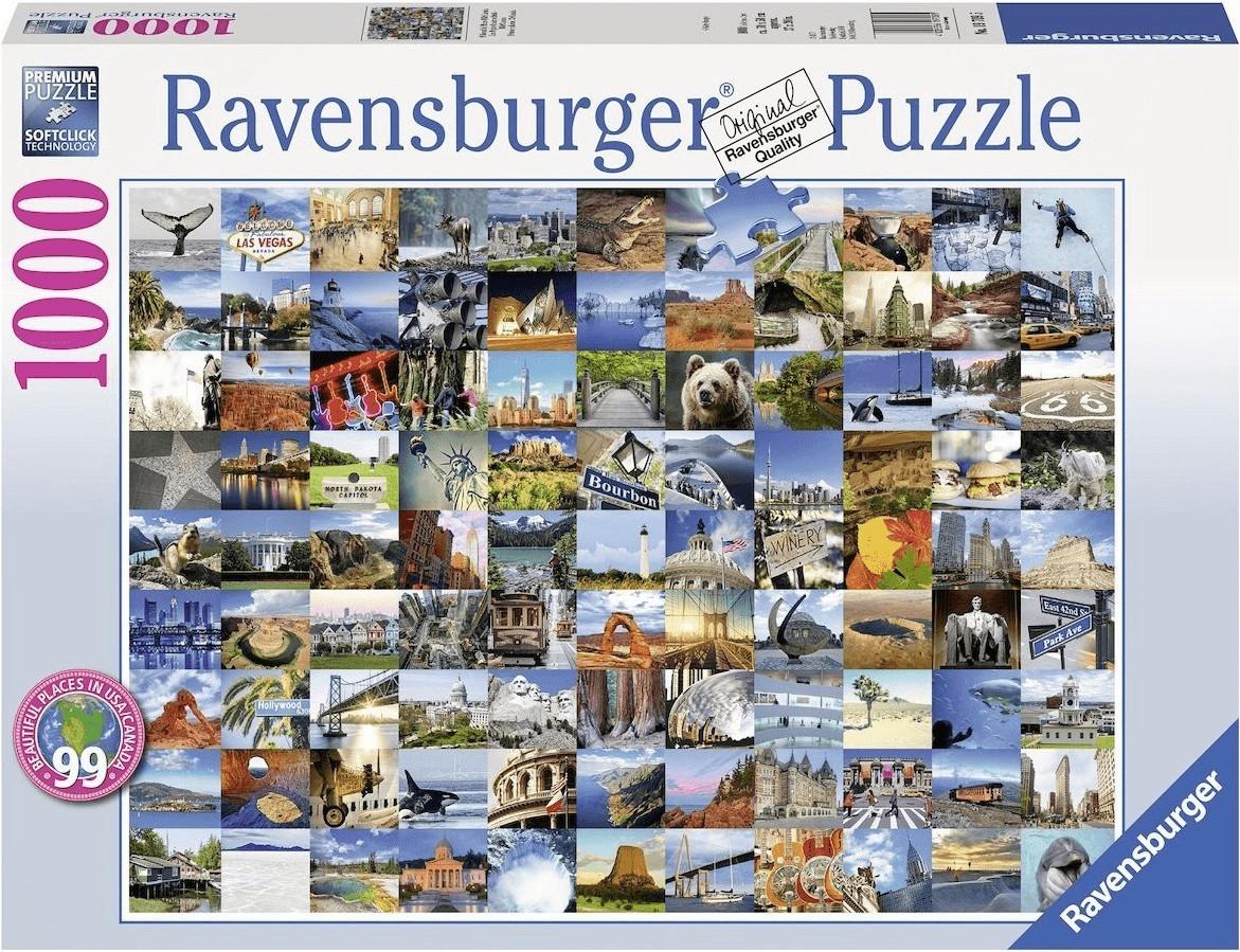 Ravensburger 99 Beautiful Places USA/Canada (1000 Teile)