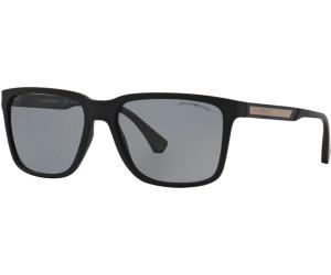 Emporio Armani Herren Sonnenbrille » EA4047«, schwarz, 506381 - schwarz/grau