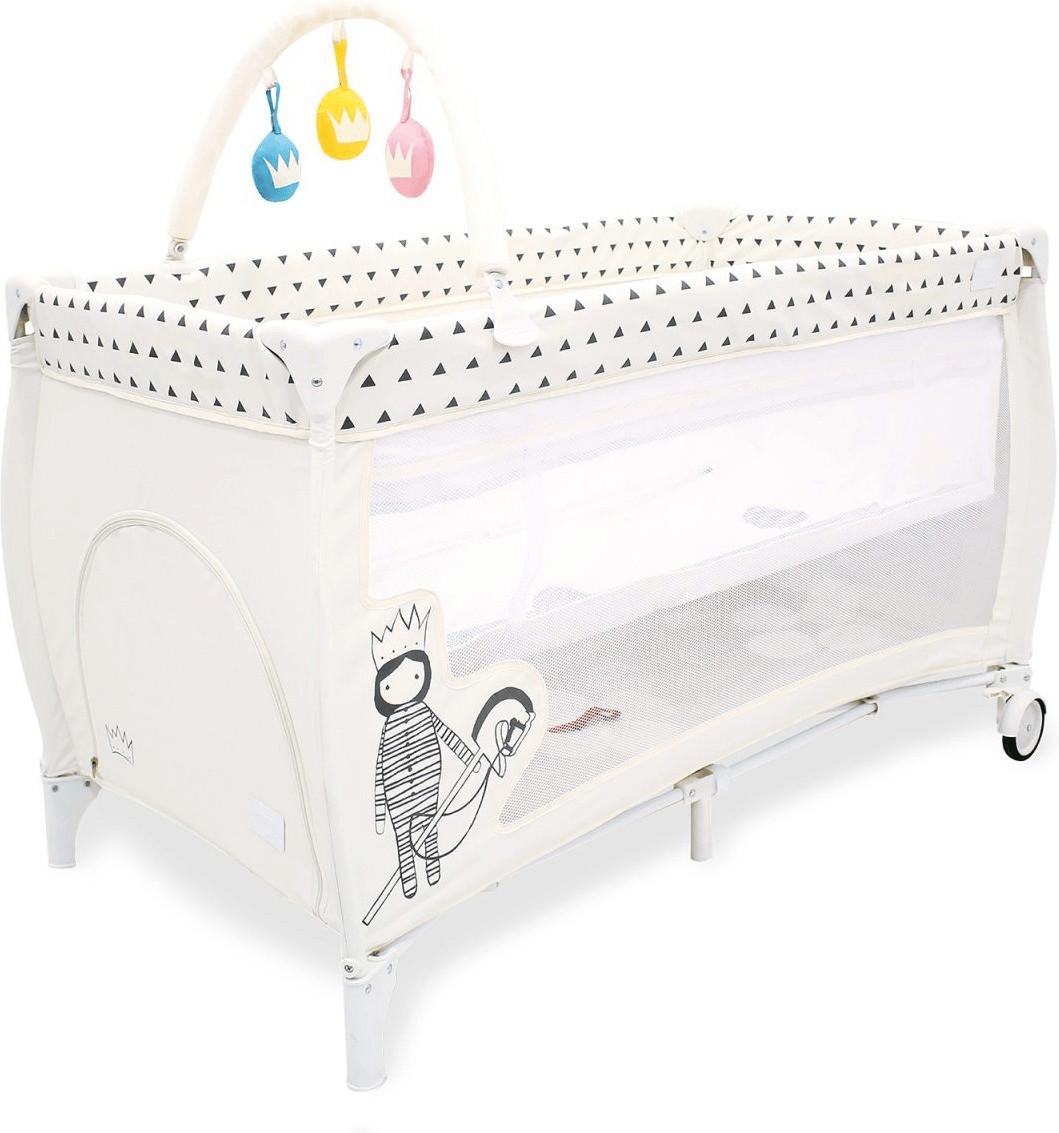 Baby Kind Babyausstattung Babymbel Deryan Toddler Luxe Cream Pueter Travel Sleeping Cot Bed Asalvo Boop Wei