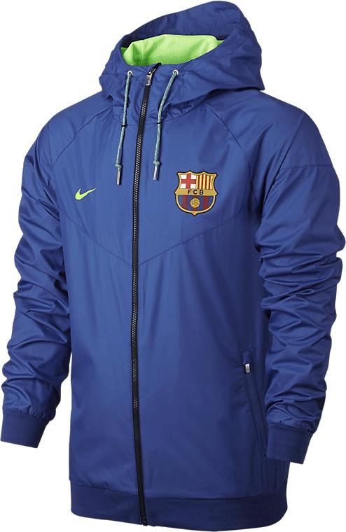 Nike FC Barcelona Windrunner Kapuzenjacke blau