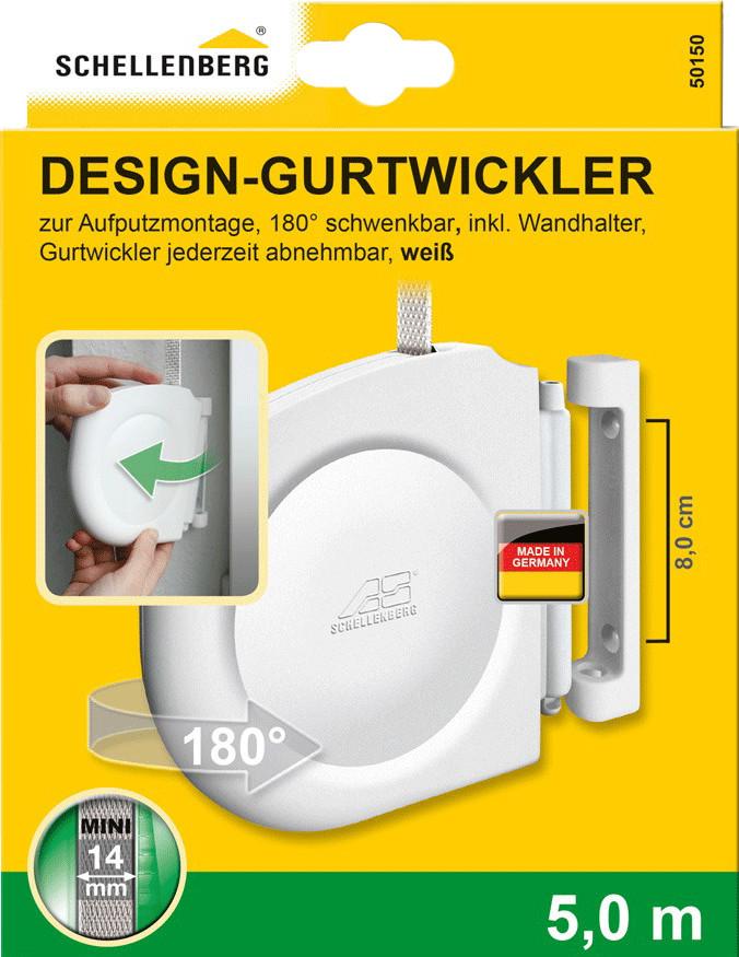 Schellenberg Aufputz-Gurtwickler weiß (50150)