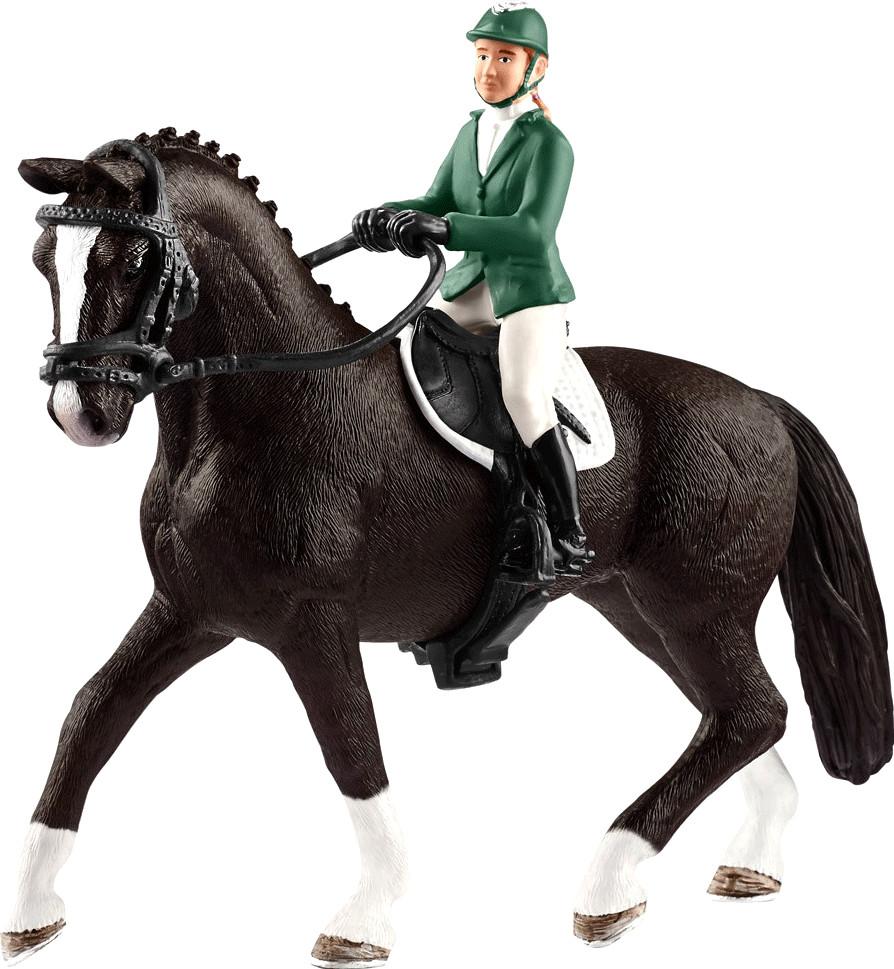 Schleich Springreiterin mit Pferd (42358)