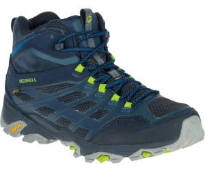 Merrell Moab 2 Mid GTX Homme Randonnée Bottes Bleu Marine Oudoor Chaussures De Randonnée