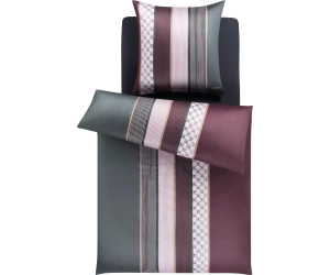Joop Mako-Satin Bettwäsche Cornflower Stripes 4069-1 mauve  155x220 cm