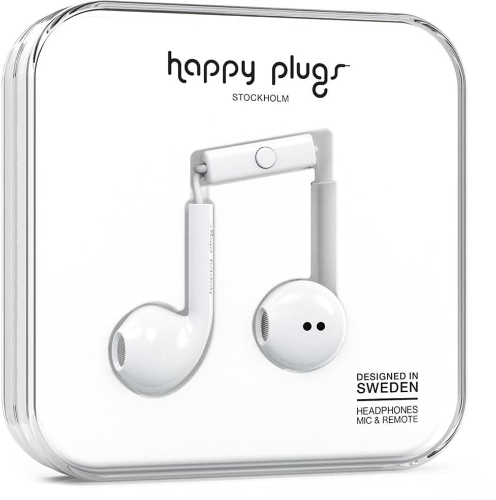 Image of Happy Plugs Earbud Plus White