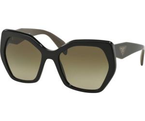 PRADA Prada Damen Sonnenbrille » PR 16RS«, schwarz, 1AB1X1 - schwarz/braun