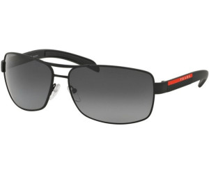 Prada Sport Herren 0PS54IS 1BO1A1 65 Sonnenbrille, Schwarz (Black/Grey)