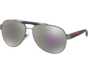 Buy Prada Ps55qs Dg12e2 Gunmetal Rubber Grey Mirror Milky