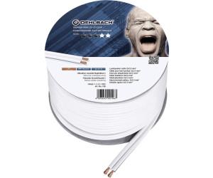 sauerstofffreies Kupfer Wei/ß 20 Meter Oehlbach Speaker Wire SP-25 2x2,5 mm/² Mini Spule Lautsprecher Kabel Boxenkabel mit OFC Stereo HI-FI Lautsprecherkabel