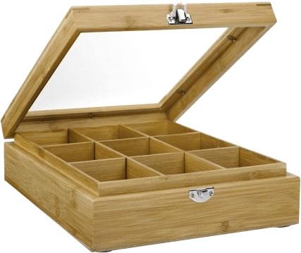 Bredemeijer Teebeutel-Kiste 9 Fächer mit Fenste...