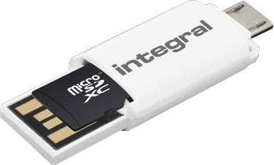 Image of Integral Smartphone and Tablet microSDXC Class 10 UHS-I U1 - 64GB (INMSDX64G10-SPTOTGR)