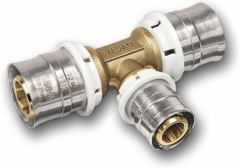 SANHA Pressfitting 25130 T-Stück 26 x 20 x 26 mm (325130262026)