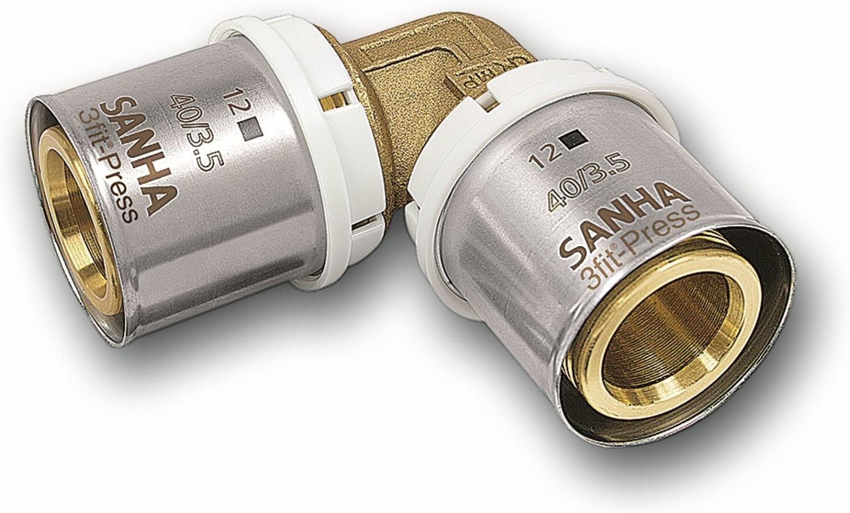 SANHA Pressfitting 25090 Winkel 90° 32 x 3 mm (32509032)