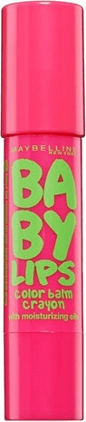 Image of Maybelline Baby Lips Color Balm Crayon - 15 Strawberry Pop (3ml)